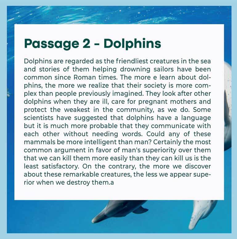 Passage 2- Dolphins