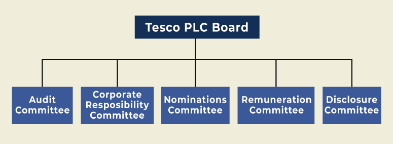 TESCO Leadership and Organisational structure