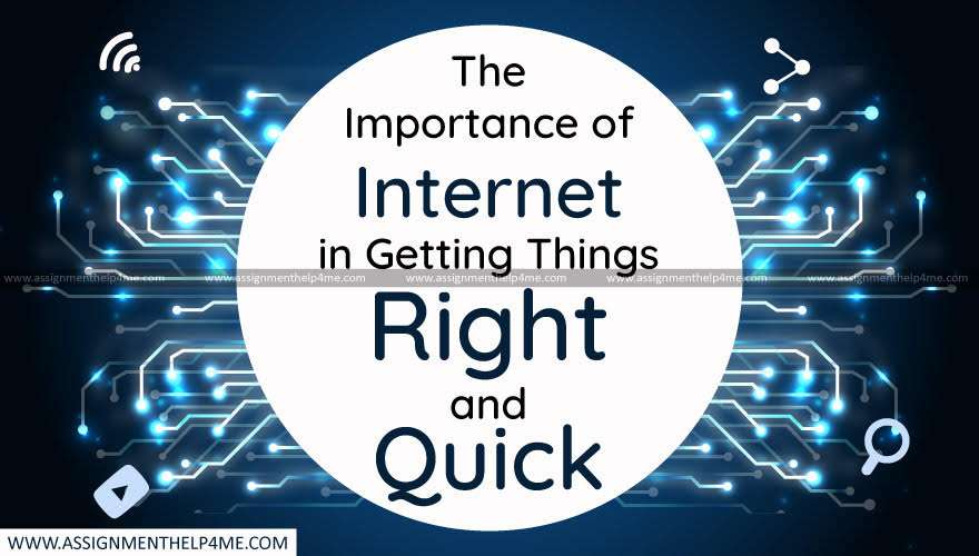 The Importance of Internet in Getting Things Right and Quick