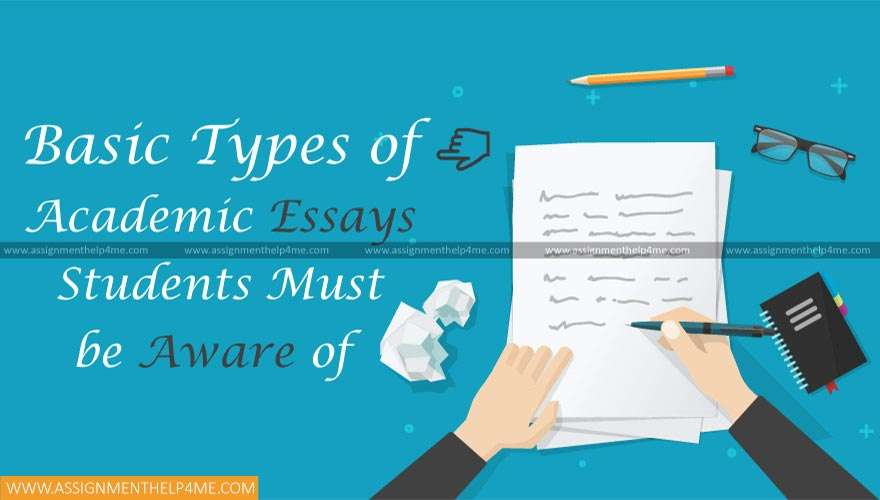 Basic Types of Academic Essays Students must be Aware of