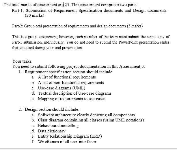 COIT20272   Requirement Specification and Design Document   Mobile