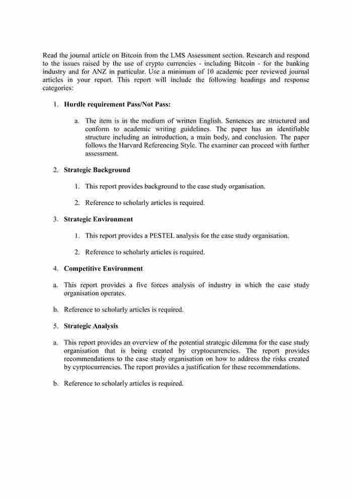 Strategic Management Assessment Task 3-1