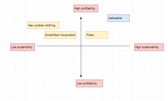 Market positioning analysis of Icebreaker